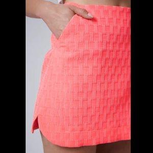 TOPSHOP Bright Pink Textured Curve Pelmet Skirt